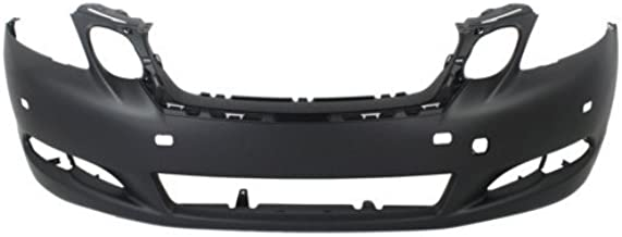 Front Bumper Cover Compatible with 2008-2011 Lexus GS350 Primed with HLW Holes with Park Assist Sensor Holes