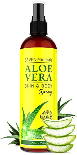 Organic Aloe Vera Spray for Body amp Hair  From Freshly Cut Aloe Plant  Extra Strong  Easy to Apply  No Thickeners So It Absorbs Rapidly With No Sticky Residue  Made in USA Big 12 fl oz