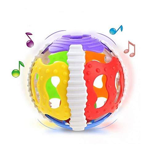 MZY1188 Hochet pour bébé, coloré Handrattle Ball Toys Bébé hochets Handbell Puzzle Jouets éducatifs saisir hochet
