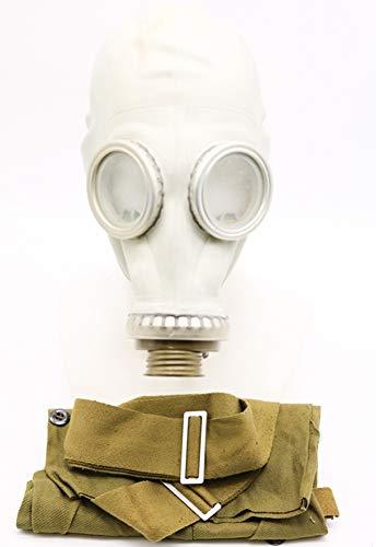 OldShop Gasmaske GP5 Set - Sowjetische Militär Gasmaske Replica Sammlerstück Set W/ Maske, Tasche, Filter - authentischer Look & Verschiedene Größen erhältlich (XL, Grau)