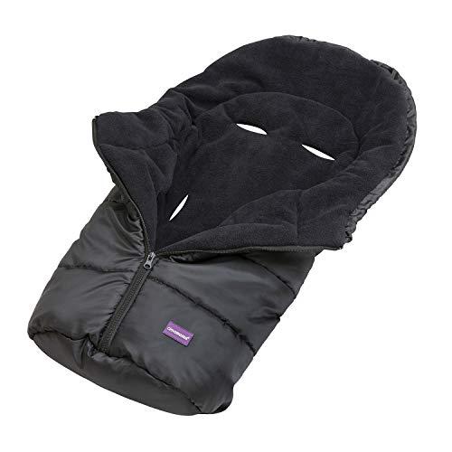 Clevamama Universaler Baby Fußsack für Autositz - Schwarz