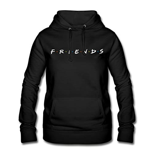 Spreadshirt Friends Logo Frauen Hoodie, L, Schwarz