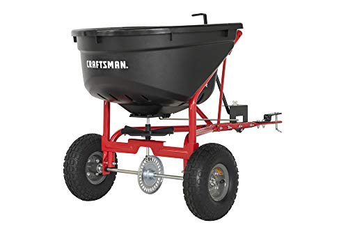 Lowest Price! CRAFTSMAN CMXGZBF7124571 110-lb Tow Broadcast Spreader, Black