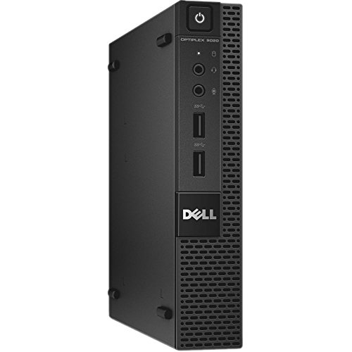 Fast Dell Optiplex 3020 Micro Desktop Computer Ultra Small Tiny PC (Intel Quad Core i5-4590T, 8GB Ram, 256GB SSD, WIFI, HDMI) Windows 10 Pro Comes With CD (Renewed)