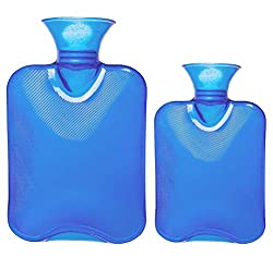 powerful Attmu 3 Pack Classic Transparent Rubber Hot Water Bottle 3 sizes, 2 liters, 1 liter …