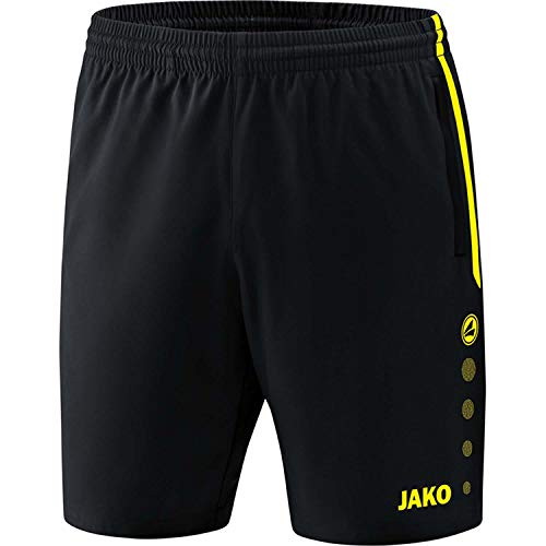 JAKO , Training & Fitness - Damen , Shorts , Competition 2.0 , schwarz/neongelb , 34-36 , 6218
