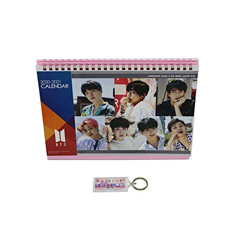 BTS bangtan Jungen Schreibtisch Kalender mit extra Foto Karten und Aufkleber