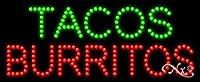 11x 27x 1インチTacos Burritosアニメーション点滅LEDウィンドウサイン