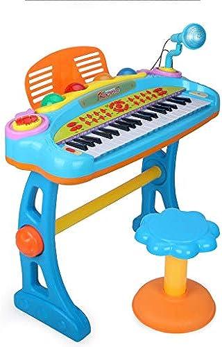 LIPENG-TOY Kinder elektronisches Klavier 3-6-12 Jahre altes mädchen Anf er Flügel Baby Multi-Funktion kann Musik-Spielzeug Spielen (Farbe   Blau)