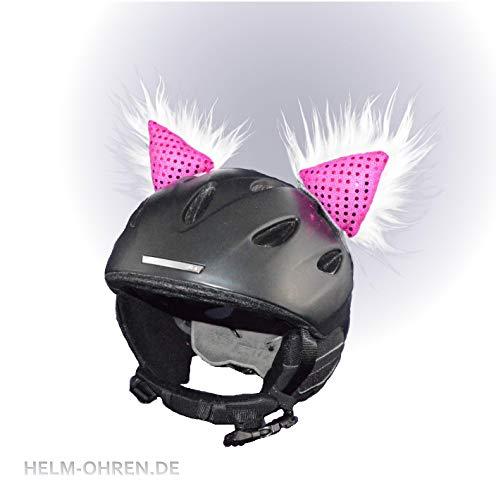 Casco para casco de esquí, snowboard o bicicleta con orejas de piel