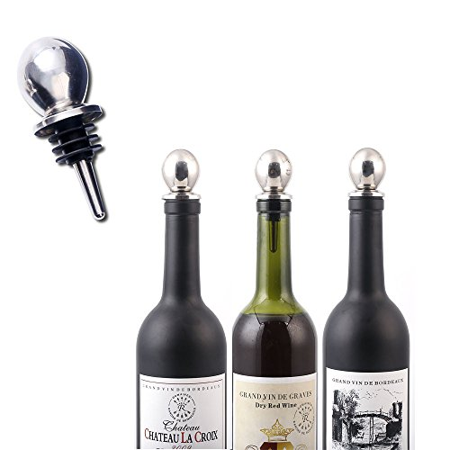 Flaschenverschlusse Weinstopfen Weinverschluss Edelstahl Sektverschluss Champagner Verschluss Weinflaschenverschluß fur Rotwein Wein Champagne Bier 2er Set