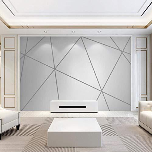 Ptcta Papel tapiz fotográfico de alta calidad creativo papel pintado geométrico en blanco y negro mural dormitorio revestimiento de pared sala de estar sofá TV fondo revestimiento de pared