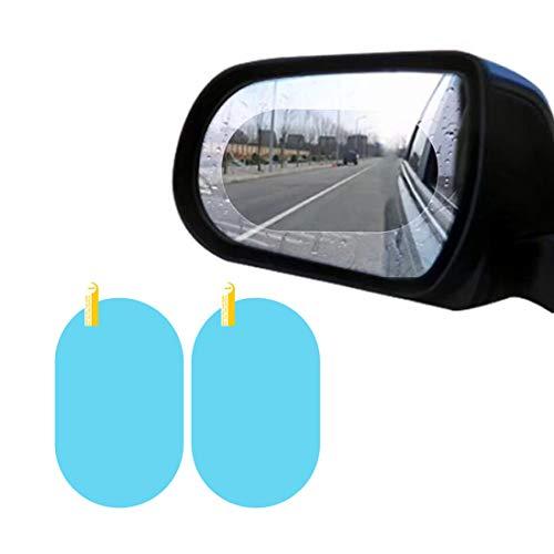 JMAHM Regenschutzfolie Rückspiegelfolie Auto Hydrophobe Folie Wasserdichte Membran Seitenscheibe Anti Fog 2er Pack