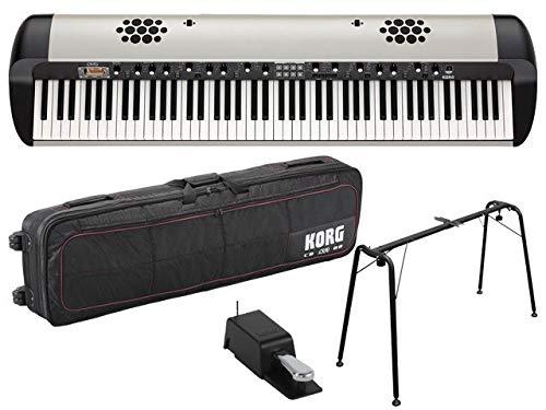 KORG コルグ - ステージ・ビンテージ・ピアノ スピーカー搭載 SV-2S 88鍵盤モデル[SV2-88S] + 純正キャリングバッグ CB-SV1-88 + 純正キーボードスタンド ST-SV1-BK セット