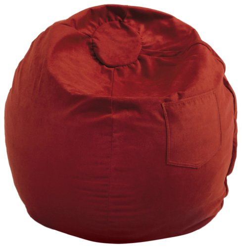 Fun Furnishings Large Beanbag, Red Micro Suede