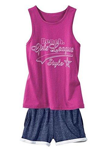 Bench Mädchen Shorty Pyjama Tanktop + Shorts (pink/Navy, 158/164)