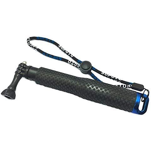 WEQQ Universal para Go Pro Action Camera 19cm Flotabilidad Dive Stick Caña de Pescar de Mano Negro y Azul
