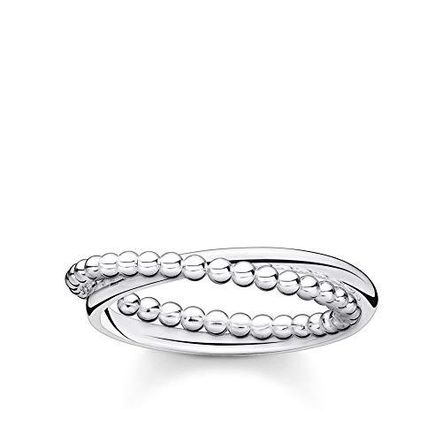 THOMAS SABO Damen Ring doppel Kugeln Silber 925 Sterlingsilber TR2321-001-21