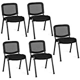 Giantex Set of 5 Conference Chair Elegant Design Stackable Office...