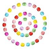 Mini Haarclips in Regenbogen-Farben