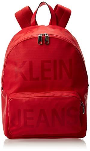 Calvin Klein - Coated Logo Campus Bp 40, Mochilas Hombre, Rojo (Barbados Cherry), 1x1x1 cm (W x H L)