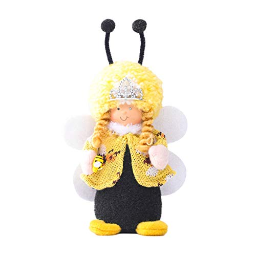 Bee Gnome Faceless Doll Ornaments,Plush Honeybee Toy Holiday Birthday Gift Bedroom Living Room Desktop Standing Post,Bee Festival Party Home Decoration (MulticolorAB, 2PC)
