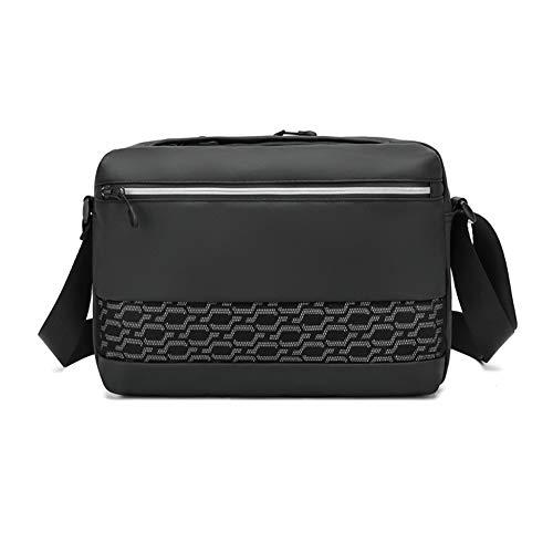 GAOHONGMEI Men High capacity Horizontal Version Chest Bag Casual CrossBody Shoulder Daypack Waterproof Anti-Theft Satchel Backpack for Outdoor Business Sports Hiking-black