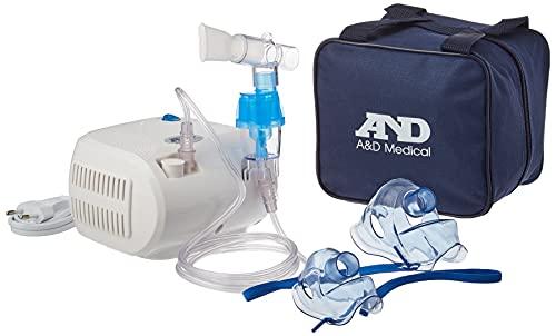 A&D Medical-014 Inhalador compacto, resistente, tratamiento rápido con tiempo de inhalación corto