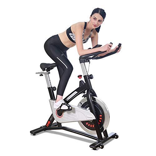 JOROTO エアロバイク フィットネスバイク スピンバイク マグネット負荷/ブレーキ搭載 静音設計 自宅トレーニングマシン ハンドル/サドル調整可能 筋力トレーニングバイク 移動キャスター付き