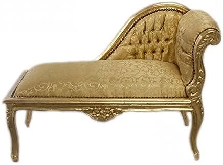 Casa-Padrino Baroque Children chaise Gold Pattern Gold Mod2R Tron Baroque Furniture