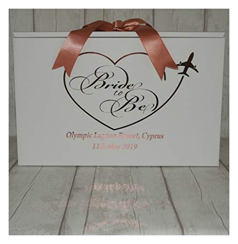 Bride to Be Wedding Dress Travel Box for Plane Personalised Airline Hand Luggage