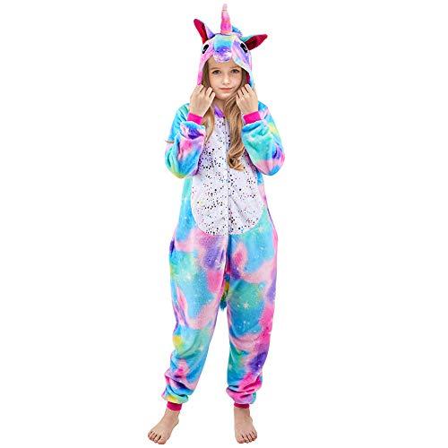 Beinou Einhorn Strampler Pyjamas Flanell Cartoon Kostüm Jumpsuit Nachtwäsche Kinder Schlafanzug...