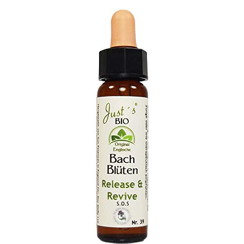 Release & Revive Nr. 39 Just´s BIO Bachblüten 10 ml Notfalltropfen Original englische BIO Bachblüten Blütentherapie für Mensch und Tier