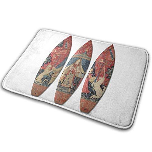 xinping Surfboard Bath Mat Doormat Non Slip Absorbent Bath Rug Carpet for Indoor/Outdoor/Kitchen/Entry/Bathroom 15.7' X 23.5'