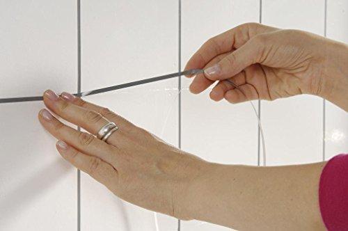 Schöner Wohnen Fugenstreifen, grau, für innen in der Spenderbox, Länge; 45m, Breite: 4 mm