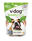 V-dog Vegan Breathbone Dog Chew Treats, Regular, 8.5 Ounce, With Superfoods