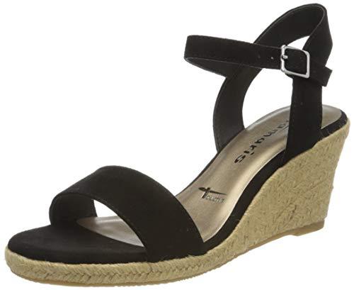 Tamaris 1-1-28300-24 001 dames open sandalen met sleehak