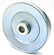 Phoenix Mfg. 4-1/4 Inch Dia Splined Bore Steel V-Groove Drive Pulley Replacement for Tuff Torq 1A646025810