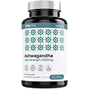 Pure Ashwagandha 1000mg - Ashwagandha Root KSM-66 Supplement - 100% Natural Ayurveda Also Known As Withania Somnifera - 120 Premium Vegan Tablets Made in The UK - Vita Vida