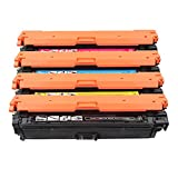 UKKU Reemplazo de Cartucho de tóner Compatible para HP CE740A para HP Color Laserjet Pro CP5225 5225N 5225dn 5220xh Impresora Negro Amarillo Cian Magenta copiadora digita Set