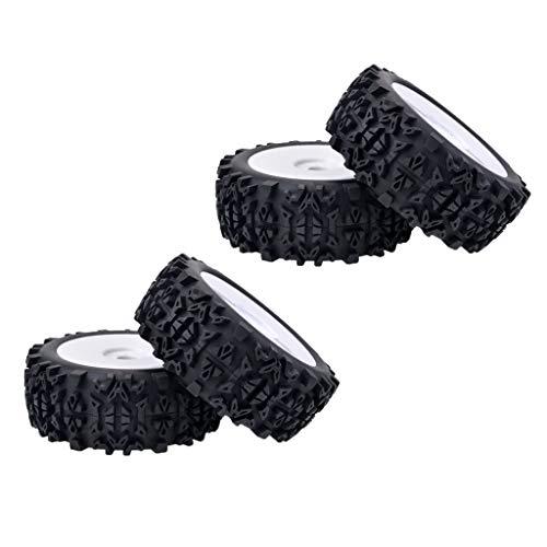 freneci Neumáticos de Goma de Coche a Escala 1/8 Y Modelo de Llanta de Rueda para Coche RC en Carretera