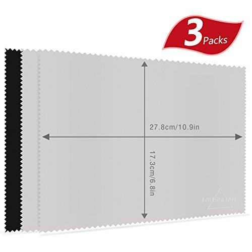 MOSSLIAN キーボードカバークロス クリーナークロス 液晶画面用マイクロファイバークロス 27.8X17.3cm 3枚セット