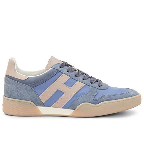Hogan Sneakers Uomo H357 Azzurre e Beige - HXM3570AC40 N3E50BW - Taglia 8½
