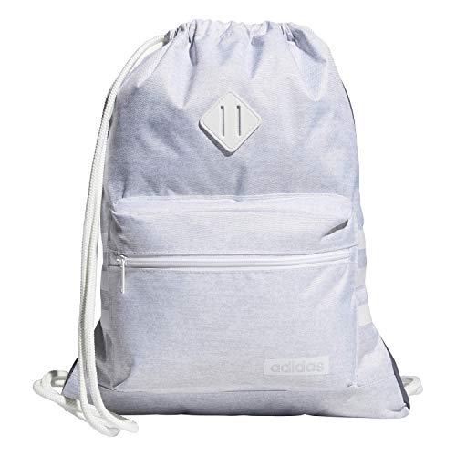 adidas Unisex Classic 3S Sackpack, White Jersey/White, ONE SIZE
