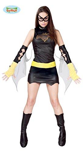 Schwarze Fledermaus Superheldin - Kostüm für Damen Karneval Fasching sexy Gr. S - M, Größe:M