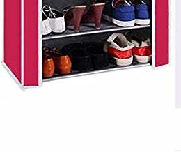 Biaba Collection 100% Brand New Real Shoe cabinet , 4 Layer Shoe Rack Organizer Pink(Color As Per Availability)