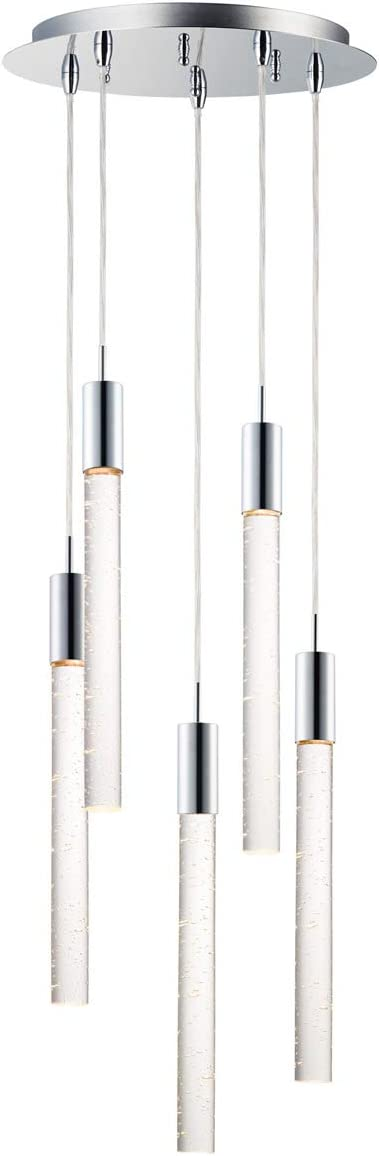 Pendants 5 Light Fixtures with Steel Max 64% OFF Max 46% OFF Chrome Polished Finish and