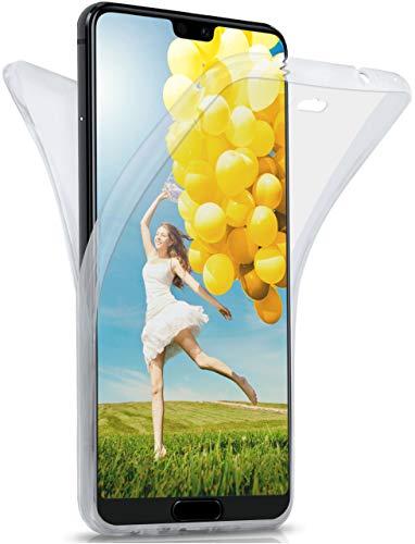 moex Double Case für Huawei P20 Lite - Hülle mit 360 Grad Schutz, Silikon Schutzhülle, vorne und hinten transparent, Clear Cover - Klar
