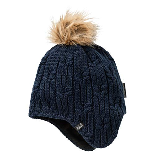Jack Wolfskin Damen Stormlock Braid Cap Women Frauenhut, Midnight Blue, M
