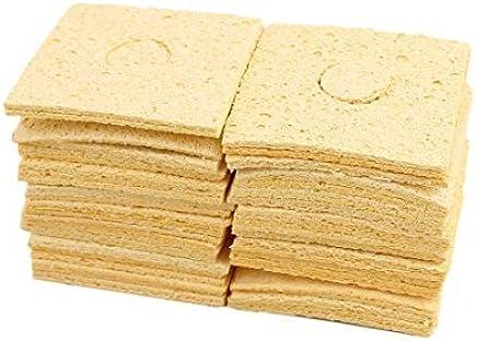 eDealMax soldadura limpia almohadilla de Punta de soldadura de Hierro esponja DE 62 x 62 x